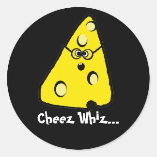 whiz del cheez, Whiz de Cheez… Pegatina Redonda