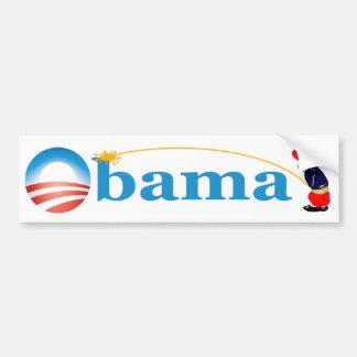 Whiz On Obama Car Bumper Sticker