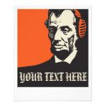 who Abraham Lincoln is listening to? Full Colour Flyer