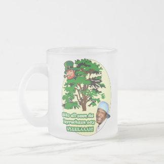 Who all seen da Leprechaun Frosted Glass Coffee Mug
