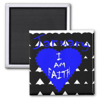 Who Am I? 2 Inch Square Magnet