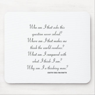 Who am I? MOUSE MAT Mouse Pad