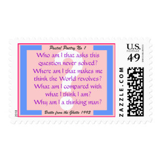 'Who am I'  stamp