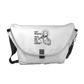 WHO AM I TO JUDGE.png Messenger Bags