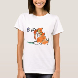 Who are you? asks Kitten of the butterfly T-Shirt