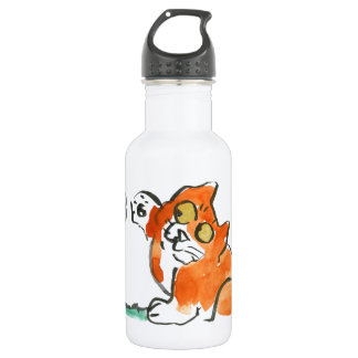 Who are you? asks Kitten of the butterfly Water Bottle