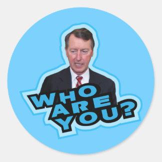 Who Are You Bob Etheridge? Classic Round Sticker