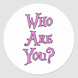 Who Are You? Classic Round Sticker