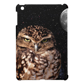 WHO ARE YOU LOOKING AT? (owl & moon design) ~ iPad Mini Cases