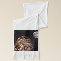 WHO ARE YOU LOOKING AT? (owl & moon design) ~ Scarf