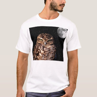 WHO ARE YOU LOOKING AT? (owl & moon design) ~ T-Shirt