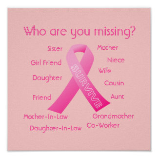 Who are you missing Pink Ribbon Poster