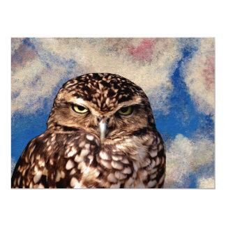 WHO ARE YOU! (Owl art design) ~ 6.5x8.75 Paper Invitation Card
