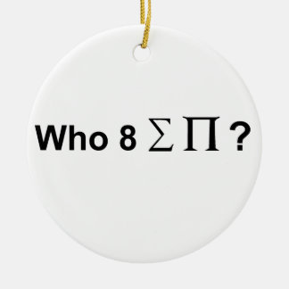 Who ate all the pies. Double-Sided ceramic round christmas ornament