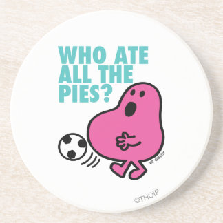 Who Ate All The Pies? Sandstone Coaster