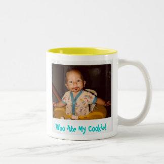 Who Ate My Cookie! - Customized Two-Tone Coffee Mug