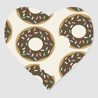 Who ate my Donut? Heart Sticker