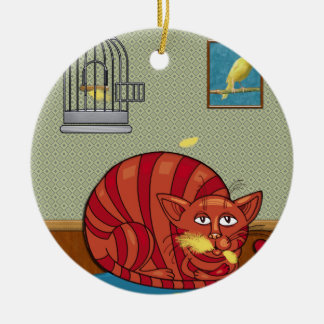 Who Ate the Canary Christmas Tree Ornaments