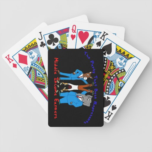 Who Best Represents Middle Incomers? Playing Cards