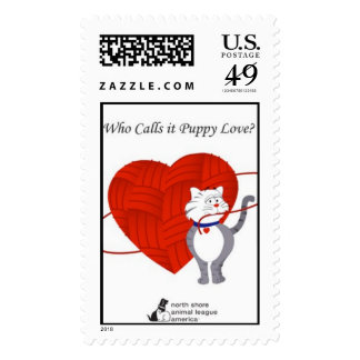 who calls it puppy love? stamp
