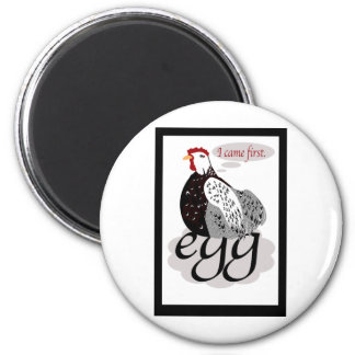 Who came first? chicken or egg? Answer here. Magnet