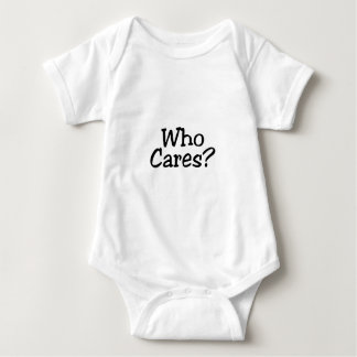Who Cares Baby Bodysuit