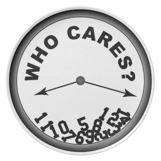 Who Cares? Clock - Decorative Display Plate