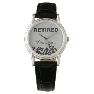 Who Cares Fallen Numbers Retired Wrist Watch