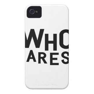 Who Cares? iPhone 4 Case-Mate Case