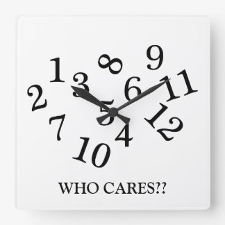 Who cares jumbled numbers funny wall clock