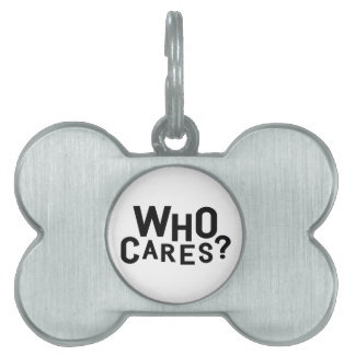 Who Cares? Pet ID Tag