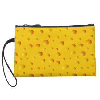 WHO CUT THE CHEESE! ~v.2~ Suede Wristlet Wallet