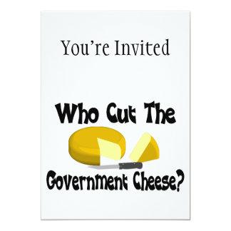 Who Cut The Government Cheese Custom Invite