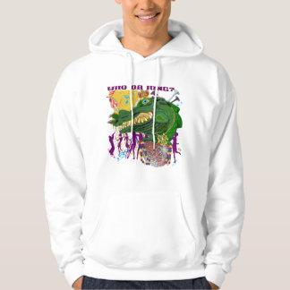 Who Da King  Style-2 Gator Front   King Back Hooded Sweatshirt