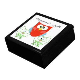 Who da Man? 3 Retro Colored Owls Gift Box