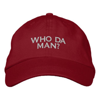 WHO DA MAN? GAMER SOCIAL SITE COMPUTER USER EMBROIDERED BASEBALL HAT