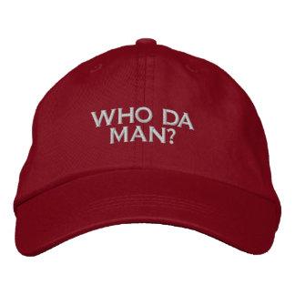 WHO DA MAN? GAMER SOCIAL SITE COMPUTER USER EMBROIDERED BASEBALL CAPS