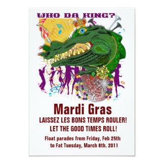 "Who Da Mardi Gras King 5"" X 7"" Invitation Card"