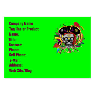 Who Da Pirate? New Orleans Large Business Cards (Pack Of 100)