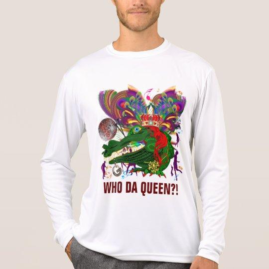Who Da Queen?!  Queen Front Gator Back T-Shirt
