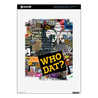 WHO DAT Collage Art Decal For iPad 3