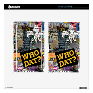WHO DAT Collage Art Decal For Kindle Fire