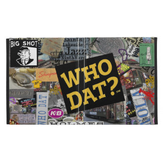 Who Dat? Collage Art  iPad Covers iPad Folio Cases