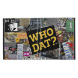 Who Dat? Collage Art  iPad Covers iPad Folio Cases