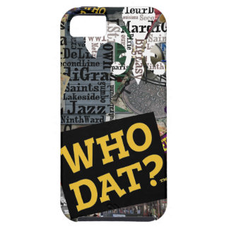 Who Dat Collage Art iphone5 Covers iPhone 5 Case