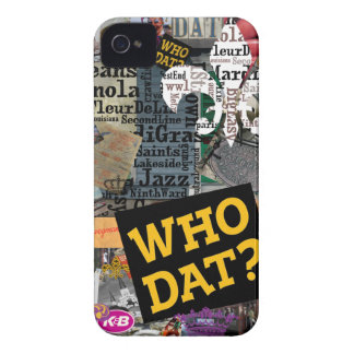WHO DAT Collage Art iPhone 4 Cover