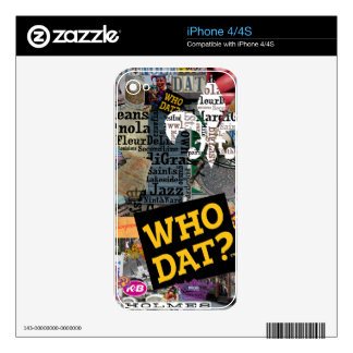 WHO DAT Collage Art iPhone 4 Decals
