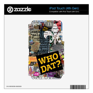 WHO DAT Collage Art iPod Touch 4G Decals