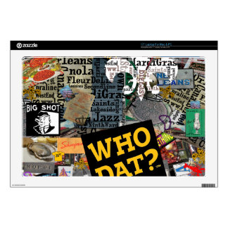 WHO DAT Collage Art Skins For Laptops