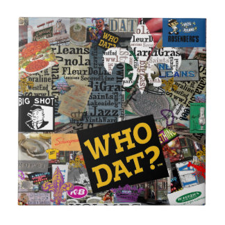 WHO DAT Collage Art Tile